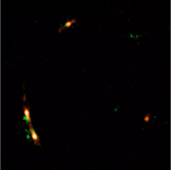 ALMA-მ შავი ხვრელიდან ამოფრქვეული ჯეტებით შეშფოთებული აირადი სტრუქტურები დააფიქსირა